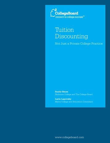 Tuition Discounting - College Board