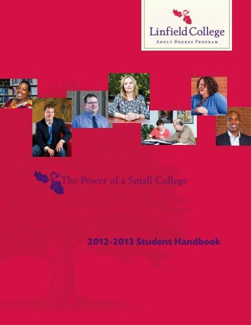 2012-2013 Student Handbook The Power of a Small College