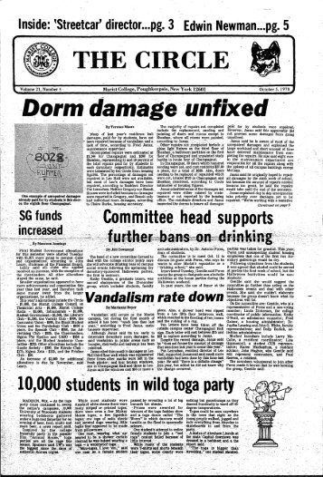 Dorm damage unfixed - James A. Cannavino Library - Marist College