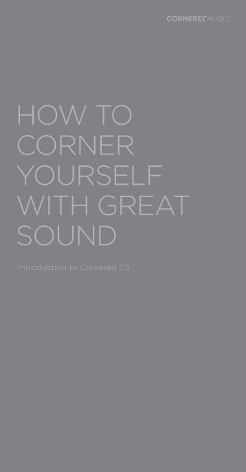 how to corner yourself with great sound - hifi - agenten . se