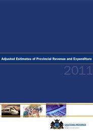 Adjusted Estimates of Provincial Revenue and Expenditure 2011