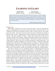 LEARNING TO LEARN - Macalester College