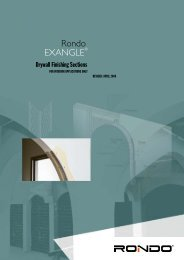 Rondo EXANGLE® Drywall Finishing Sections