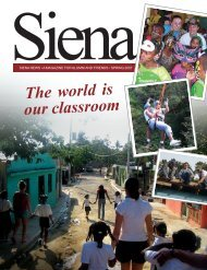 The world is our classroom - Siena College