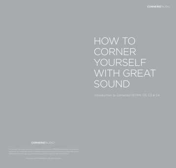 HOW TO CORNER YOURSELF WITH GREAT ... - Cornered Audio