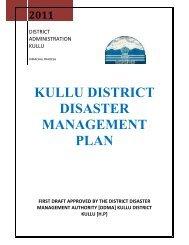 kullu district disaster management plan - District Administration Kullu