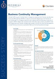 Business Continuity Management - Intercai