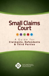 Small Claims Court - Public Legal Information Service of New ...