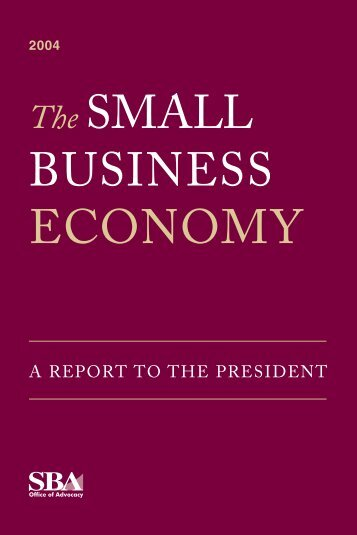 The Small Business Economy - the America Information Web
