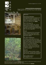 Newsletter Nr. 28 vom 14. Dezember 2011 - Länggass-Tee