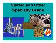 Starter and Other Specialty Feeds