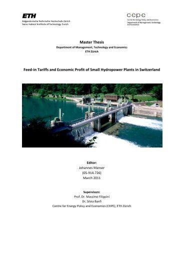 Masters thesis in economics