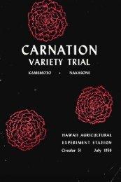 Carnation variety trial - ctahr - University of Hawaii