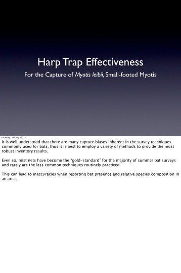 Harp Trap Effectiveness - nebwg