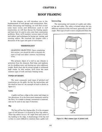 ROOF FRAMING - ConstructionKnowledge.net