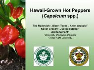 Hawaii-Grown Hot Peppers (Capsicum spp.) - ctahr