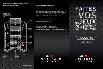 ROULETTE - Spielbank Stuttgart