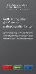 wahrscheinlichkeiten - Spielbank Stuttgart