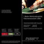 1. Baden-Württembergische Pokermeisterschaft 2009 - Spielbank ...