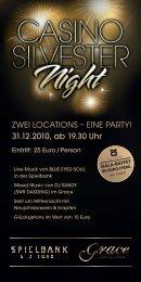 31.12.2010, ab 19.30 Uhr - Spielbank Stuttgart