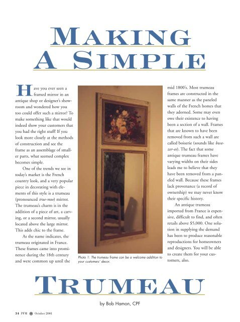 Making A Simple Picture Framing Magazine