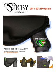 Product Catalog PDF Download - Sticky Holsters