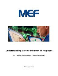 Understanding Carrier Ethernet Throughput - MEF