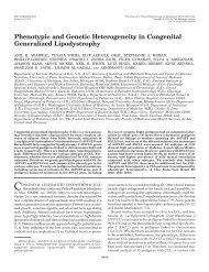 Phenotypic and Genetic Heterogeneity in Congenital Generalized ...