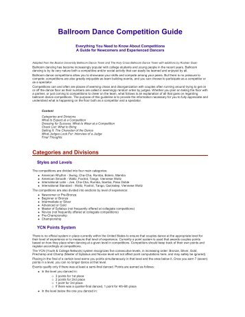 Ballroom Dance Competition Guide - Columbia University Ballroom ...