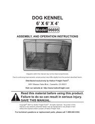 DOG KENNEL 6' X 6' X 4' - Harbor Freight Tools
