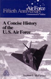 A Concise History of the US Air Force - Air Force Historical Studies ...