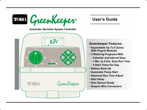 Toro Greenkeeper Wiring Diagram