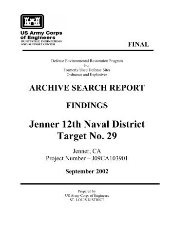 Jenner Bombing Target Archive Search Report Findings