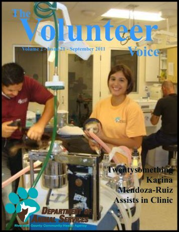 September 2011 - Riverside County Department of Animal Services