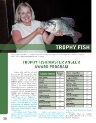 TROPHY FISH - Kentucky Department of Fish and Wildlife Resources