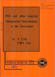 PCB and other industrial halogenated hydrocarbons in the
