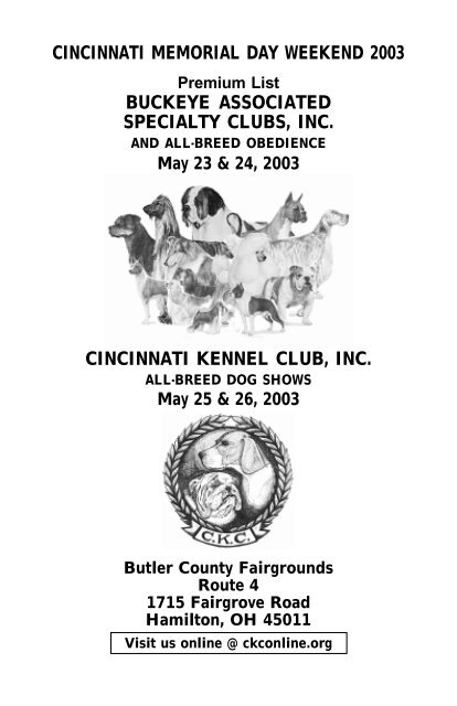 Buckeye Associated Specialty Clubs Inc Cincinnati Kennel