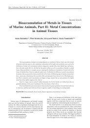 Bioaccumulation of Metals in Tissues of Marine Animals, Part II ...