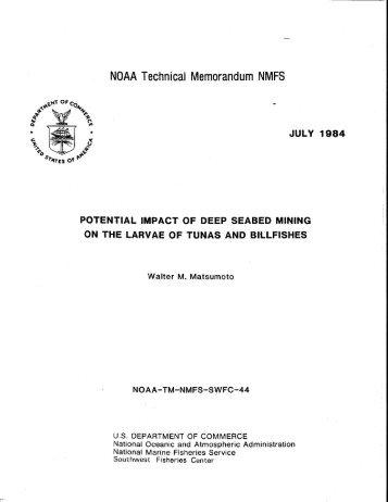 NOAA Technical Memorandum NMFS JULY 1984 - Pacific Islands ...