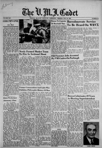 The Cadet. VMI Newspaper. May 30, 1955 - New Page 1 [www2.vmi ...