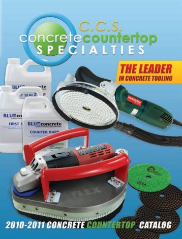2010-2011 Concrete Countertop Catalog