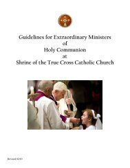 Guidelines for Extraordinary Ministers of Holy Communion at Shrine ...