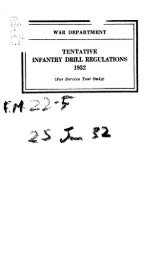 Tentative Infantry Drill Regulations - VI Corps Combat Engineers WWII