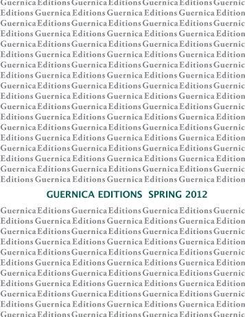 Spring 2012 Catalog - Guernica Editions