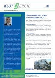 Gasversorgung in Kloten – Weiterentwicklung - Industrielle Betriebe ...