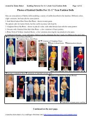 Knitting Patterns for 11.5 inch Fashion Doll - Knitting Paradise