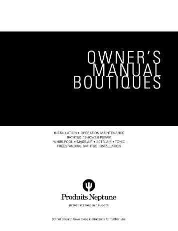 Installation - Produits Neptune