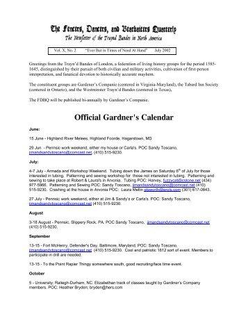 Official Gardner's Calendar - Gardiner's Company
