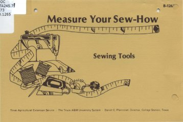 Measure Your Sew-How - Repository - Texas A&M University