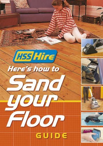 how to Sand your Floor GUIDE - HSS Hire